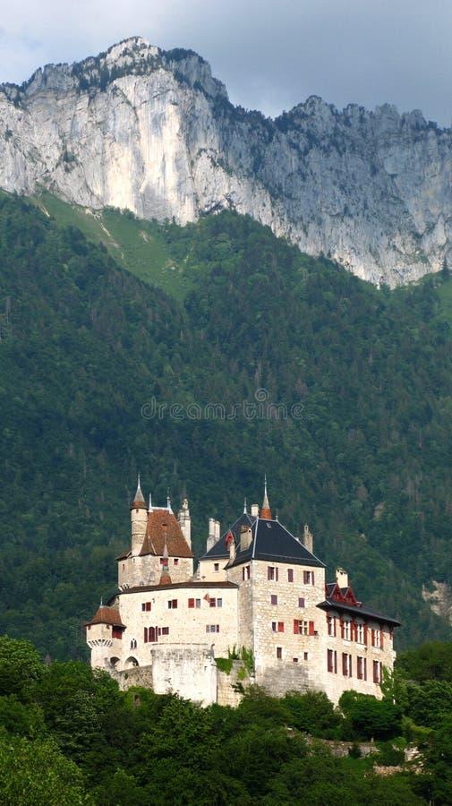 Het Kasteel van Menthon, Annecy, Frankrijk royalty-vrije stock afbeelding