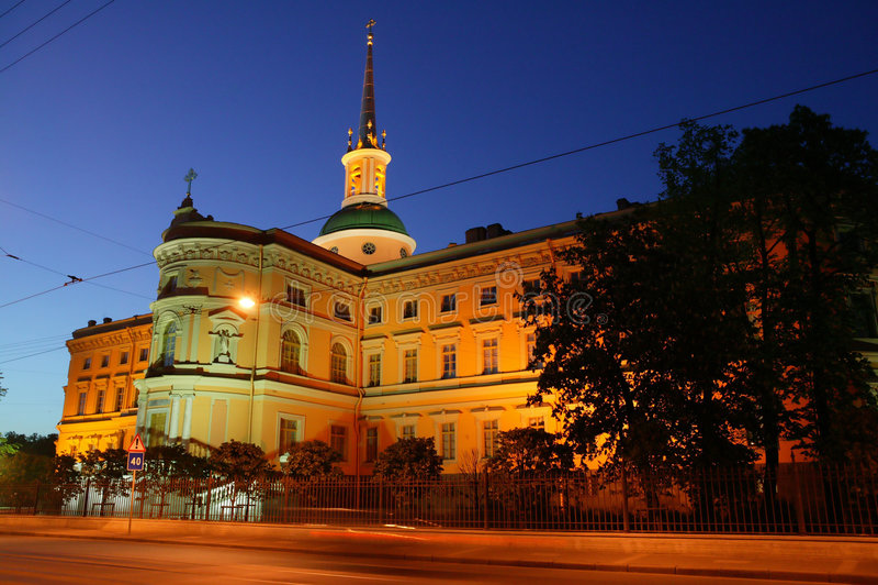 Het Kasteel Van Mihaylovskiy Stock Foto