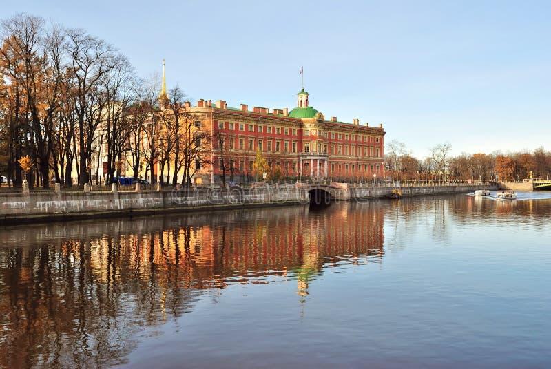Het Kasteel van Mikhailovsky, St. Petersburg stock afbeelding