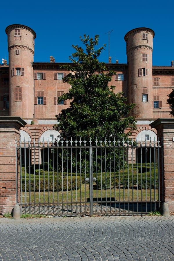Het kasteel van Moncalieri stock afbeeldingen