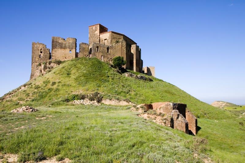 Het kasteel van Montearagon stock afbeelding