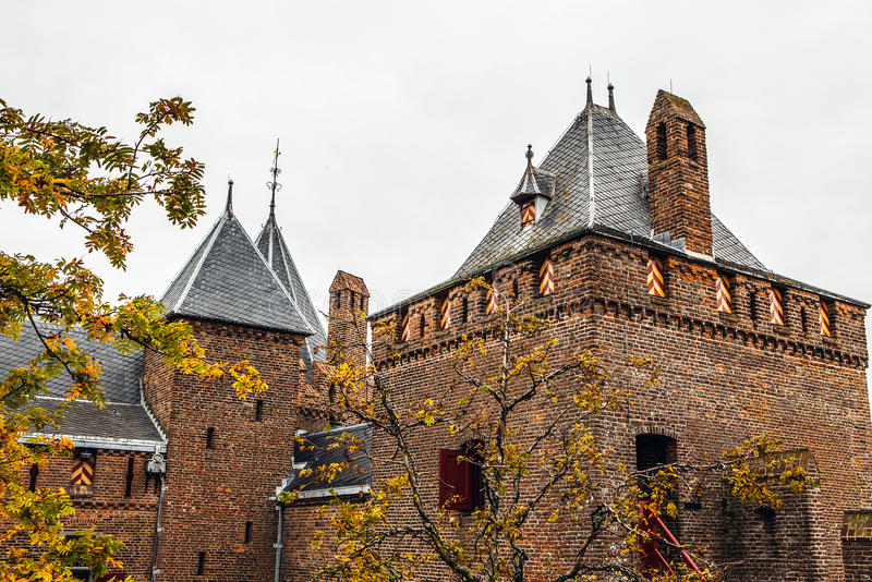 Het kasteel van Muiderslotmuiden in Muiden, Noord-Holland, Nederland royalty-vrije stock foto
