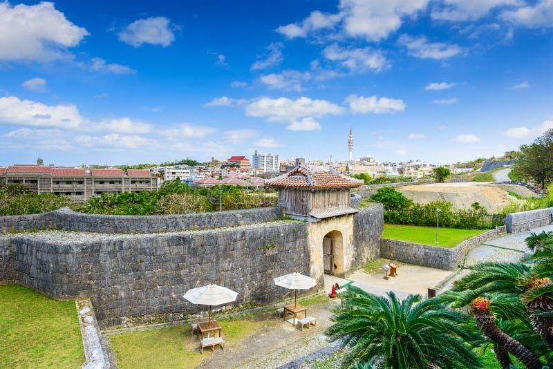 Het Kasteel van Naha in Okinawa stock afbeeldingen