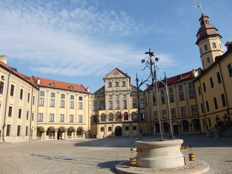 Het Kasteel van Nesvizh (Wit-Rusland) royalty-vrije stock afbeelding