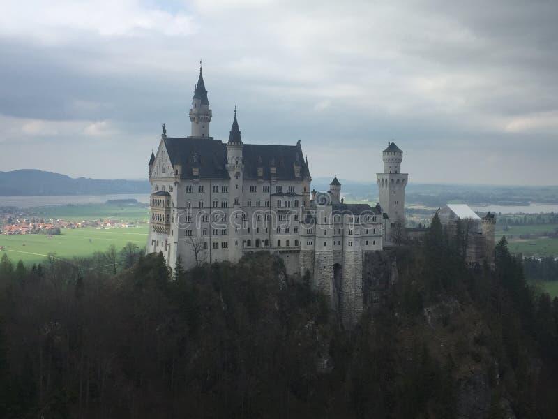 Het kasteel van Neuschwanstein in Beieren royalty-vrije stock afbeeldingen