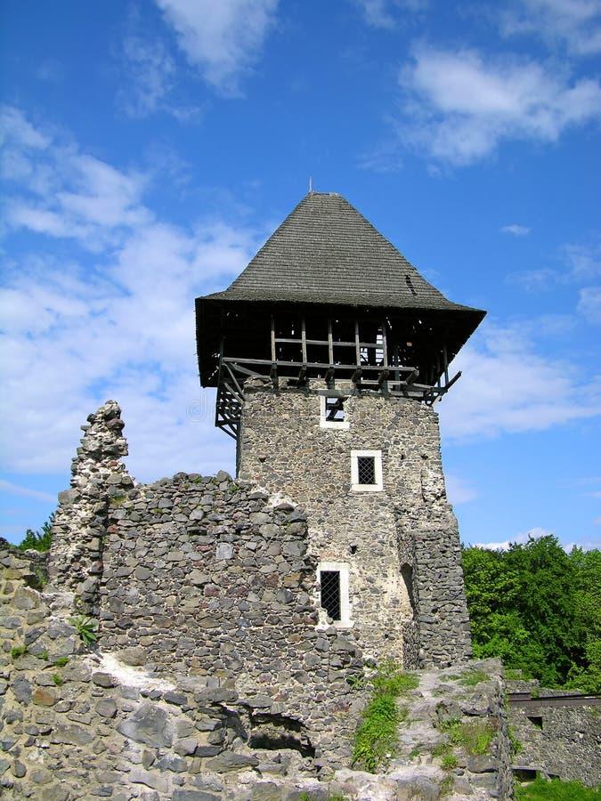Het kasteel van Nevitskiy dichtbij Uzhgorod, de Oekraïne stock afbeeldingen