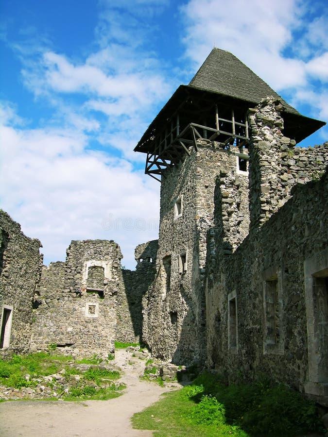 Het kasteel van Nevitskiy dichtbij Uzhgorod, de Oekraïne stock foto's