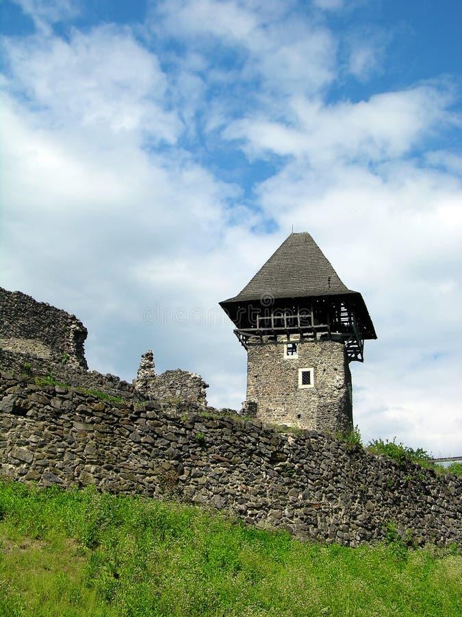 Het kasteel van Nevitskiy, Uzhgorod, de Oekraïne stock foto's