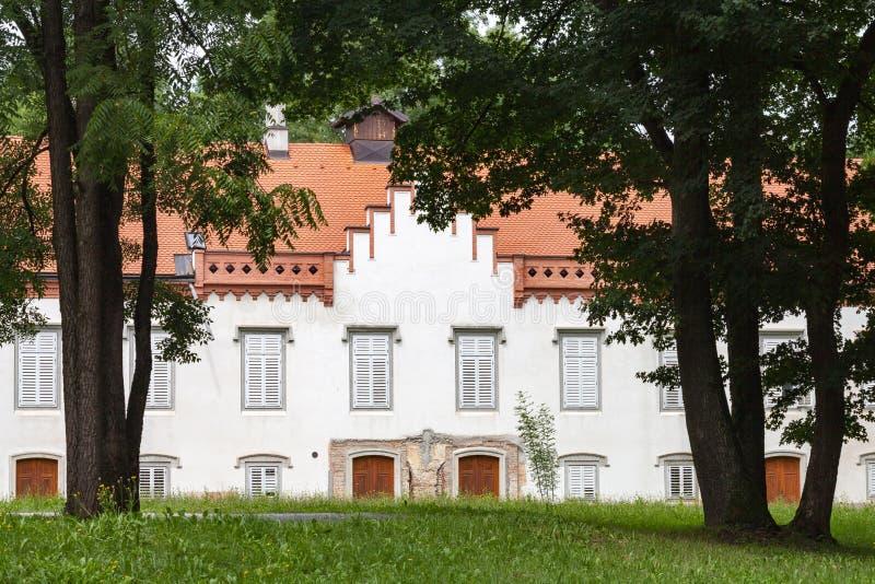 Het Kasteel van Novidvori in Zapresic, Kroatië stock afbeeldingen