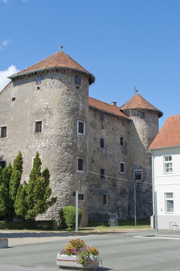 Het kasteel van Ogulin stock foto's