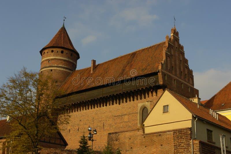 Het kasteel van Olsztyn stock afbeeldingen