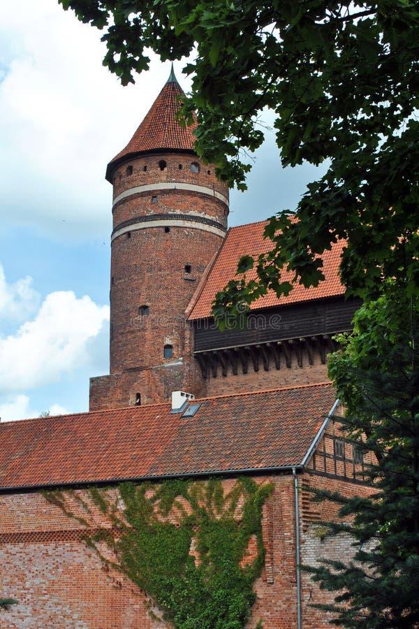 Het kasteel van Olsztyn stock foto's