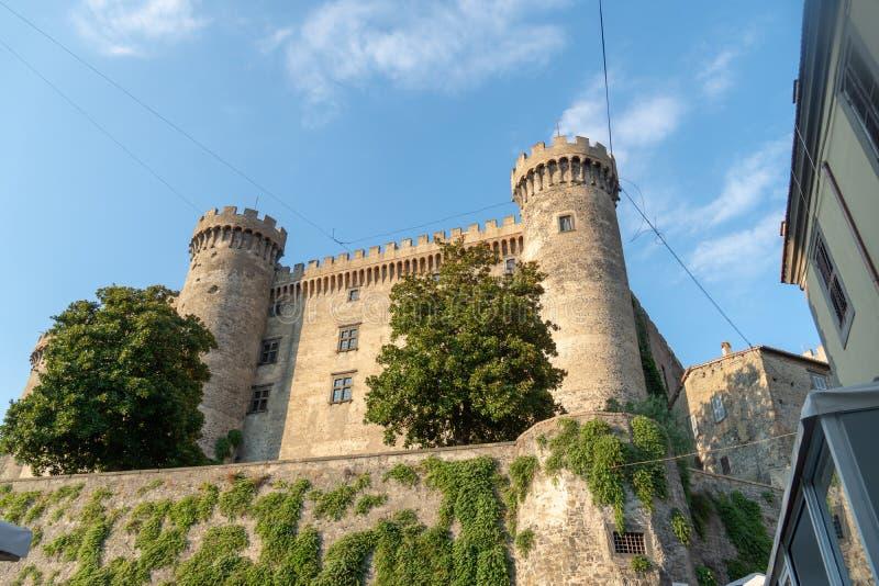 Het Kasteel van Orsiniodescalchi, Bracciano, Italië stock foto