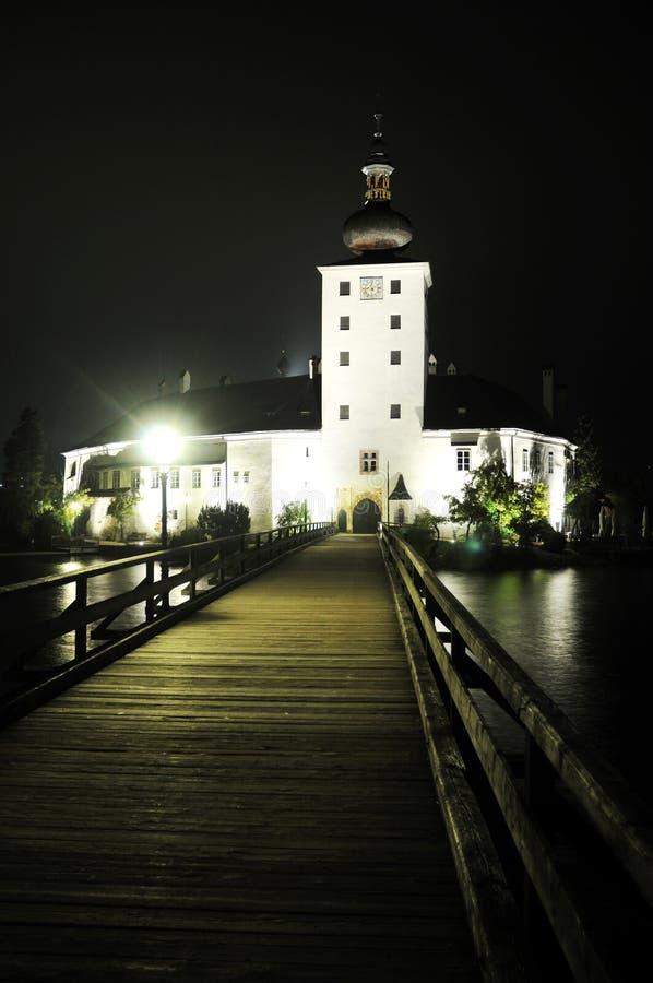 Het Kasteel van Ort bij Nacht royalty-vrije stock afbeelding