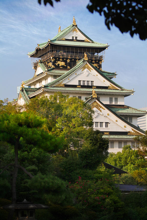 Het Kasteel van Osaka stock foto