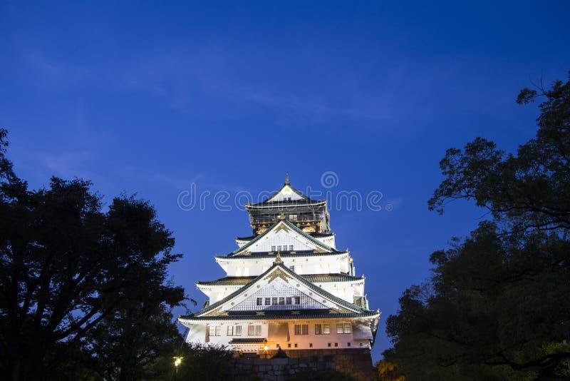 Het kasteel van Osaka. Japan royalty-vrije stock foto