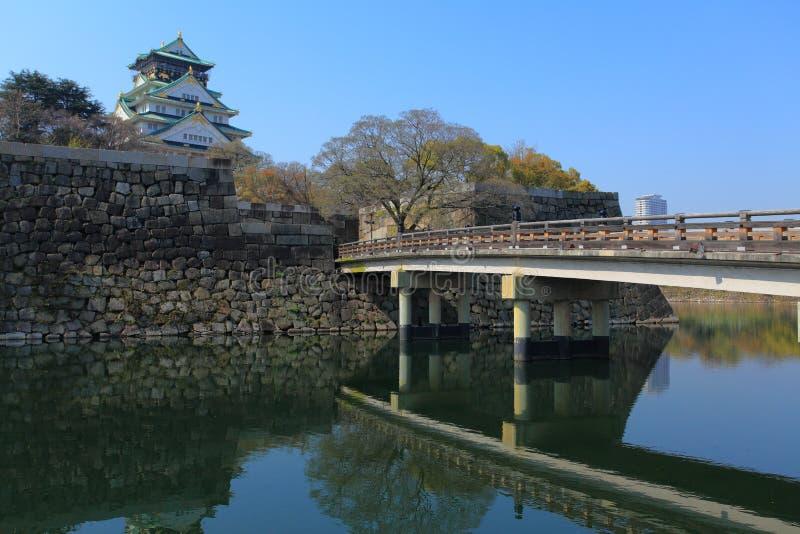 Het Kasteel van Osaka, Japan royalty-vrije stock afbeeldingen