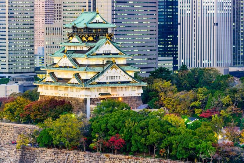 Het Kasteel van Osaka, Japan stock fotografie