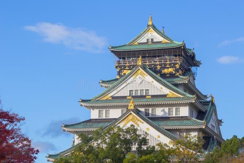 Het Kasteel van Osaka, Japan stock afbeelding