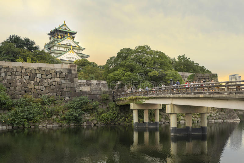 Het kasteel van Osaka, Osaka, Japan royalty-vrije stock afbeeldingen