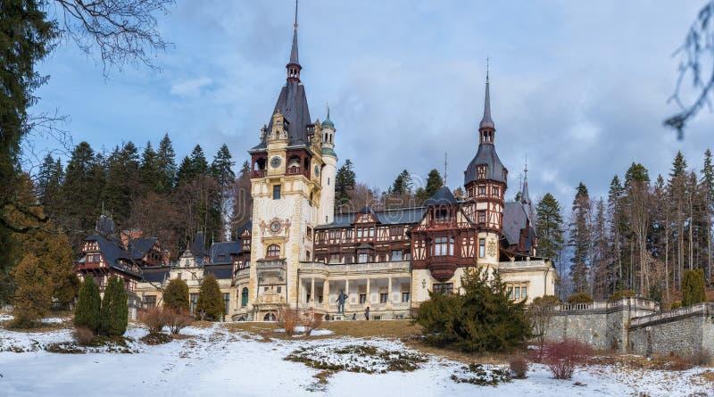 Het Kasteel van Peles in Sinaia, Roemenië royalty-vrije stock foto's