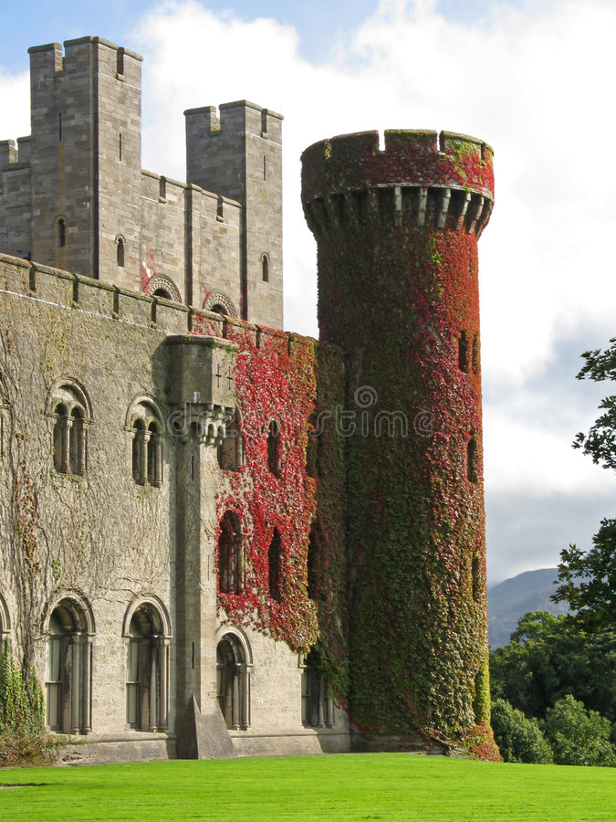 Het Kasteel Van Penrhyn In Wales, Het UK Stock Foto