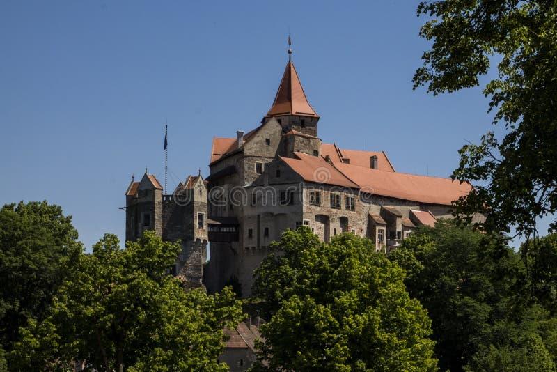 Het kasteel van Pernstejn royalty-vrije stock afbeeldingen