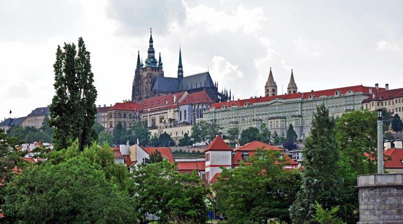 Het Kasteel van Praag, het hoofdkwartier van de Voorzitter Czech, Europa stock afbeelding