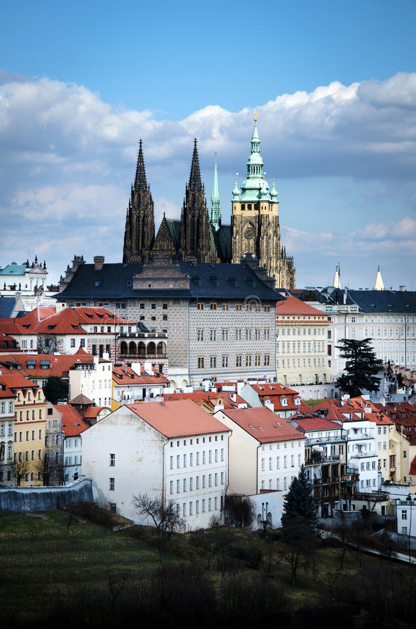 Het kasteel van Praag, Kathedraal van St Vitus, Praag royalty-vrije stock afbeelding