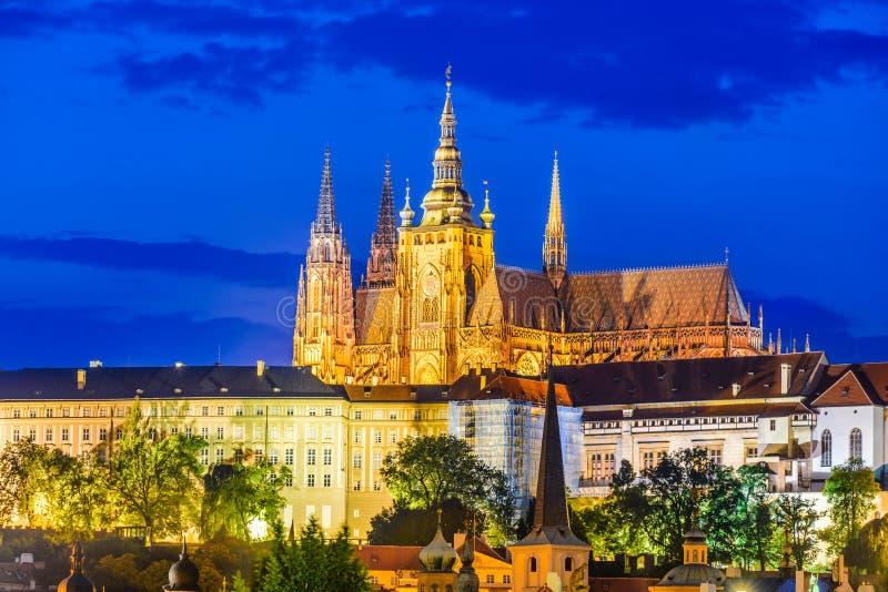Het Kasteel van Praag, Tsjechische Republiek stock afbeeldingen