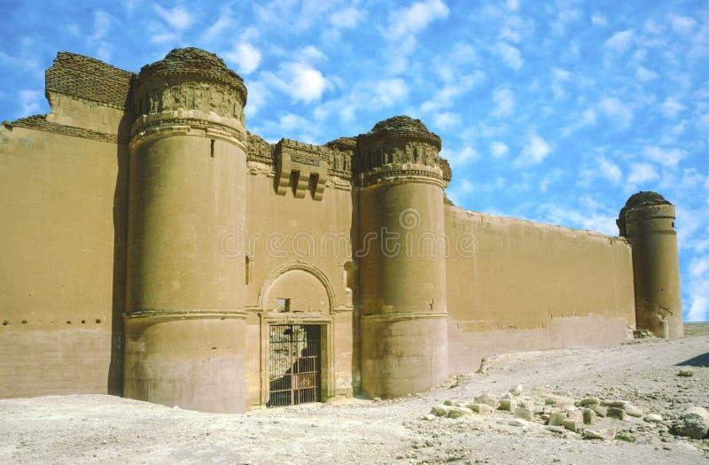 Het kasteel van Qasr al-Hayr al-Sharqi stock foto