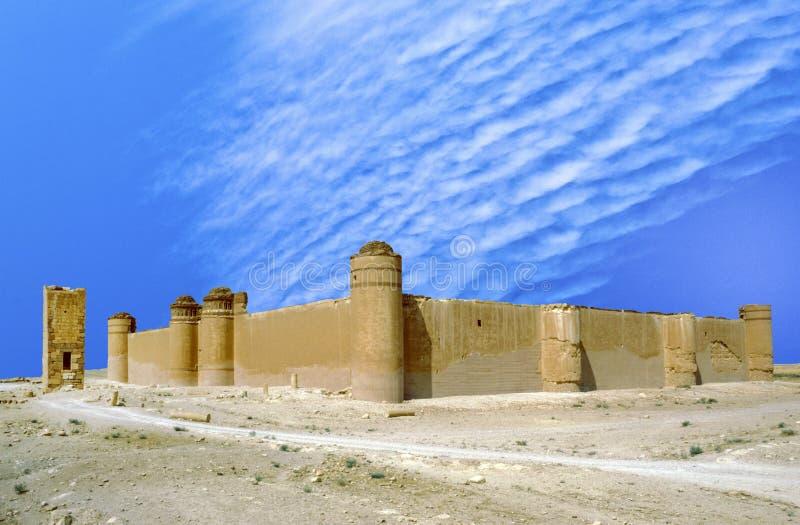 Het kasteel van Qasr al-Hayr al-Sharqi royalty-vrije stock foto