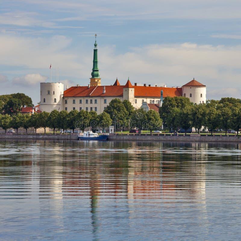 Het kasteel van Riga stock afbeelding