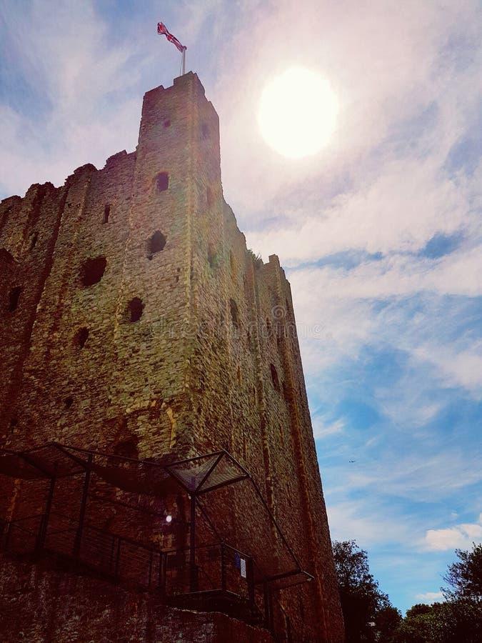 Het Kasteel van Rochester in Juni royalty-vrije stock foto