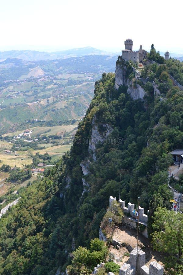 Het kasteel van San Marino royalty-vrije stock foto's