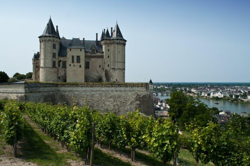 Het kasteel van Saumur stock afbeelding