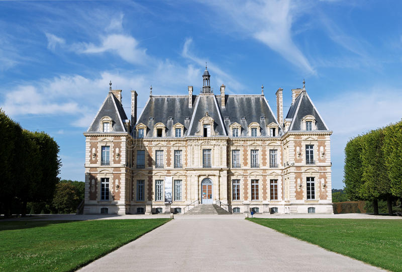 Het kasteel van Sceaux in Frankrijk stock afbeeldingen
