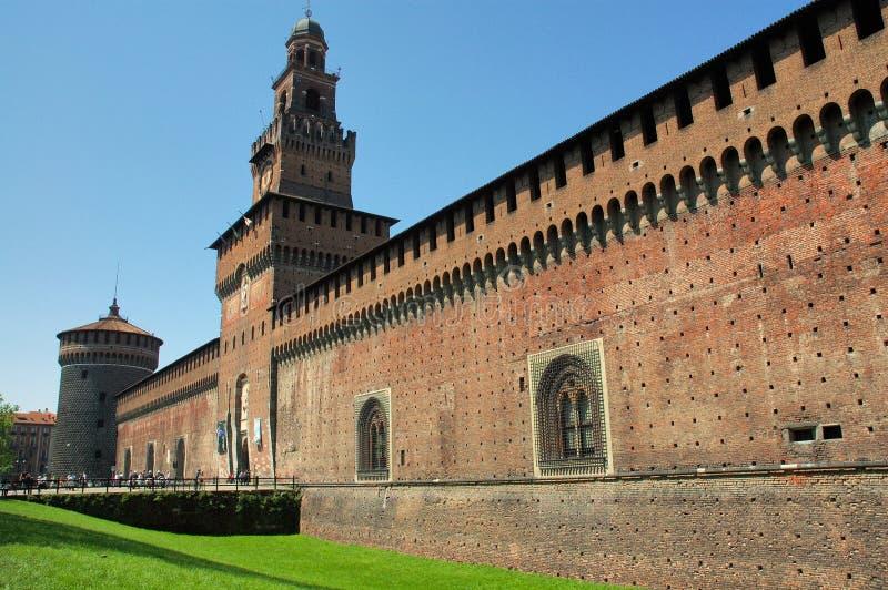 Het kasteel van Sforzesco, Milaan royalty-vrije stock fotografie