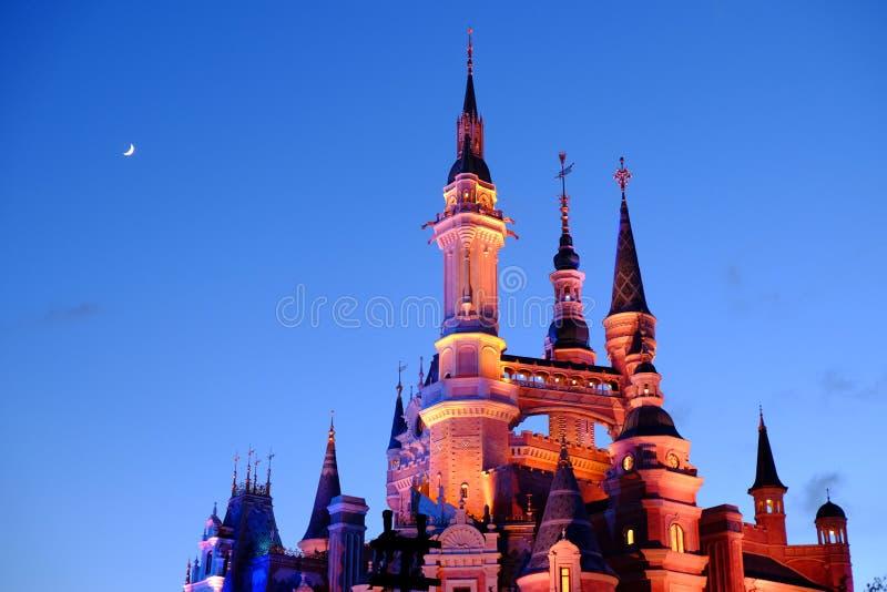 Het Kasteel van Shanghai Disney stock foto's
