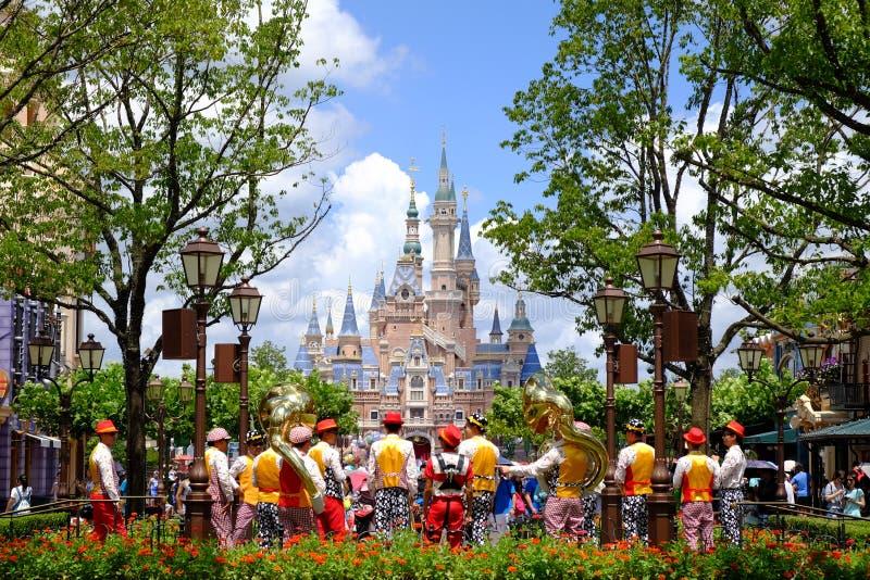 Het Kasteel van Shanghai Disney stock fotografie