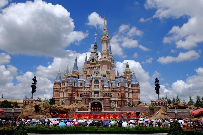 Het Kasteel van Shanghai Disney stock foto
