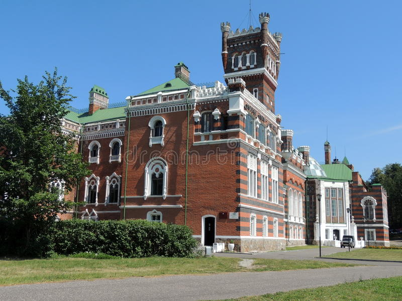 Het kasteel van Sheremetyev stock afbeelding