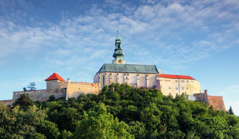 Het kasteel van Slowakije - Nitra- stock afbeeldingen