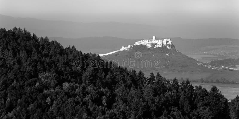 Het kasteel van Spis, Slowakije royalty-vrije stock foto