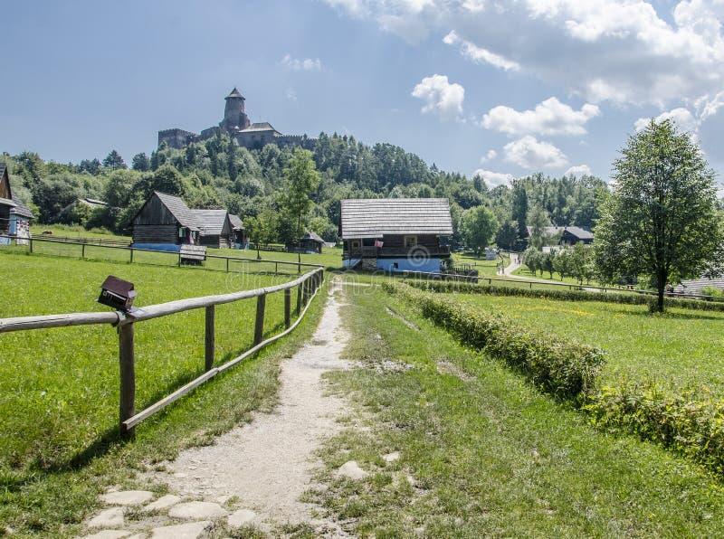 Het Kasteel van Staralubovna, Slowakije royalty-vrije stock afbeelding