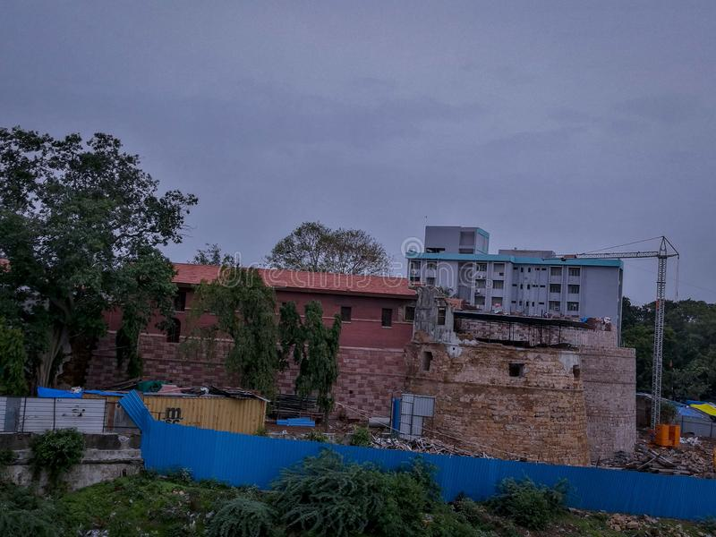 Het kasteel van Surat, Surat, Gujarat, India stock afbeelding