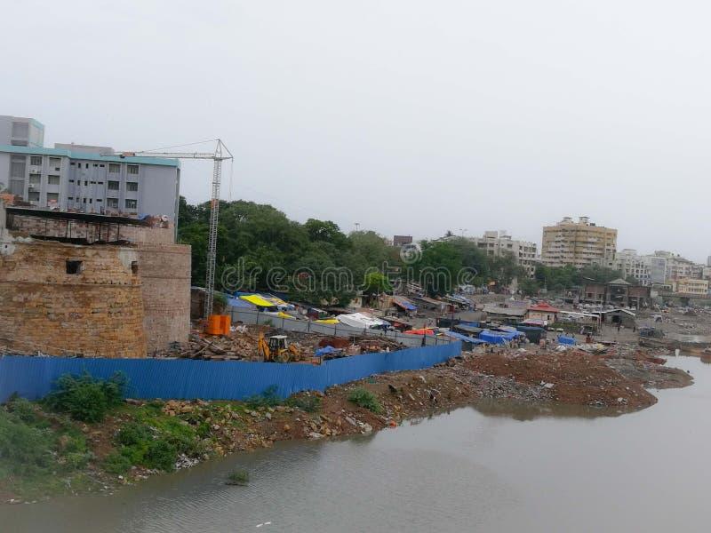 Het kasteel van Surat, Surat, Gujarat, India stock foto's