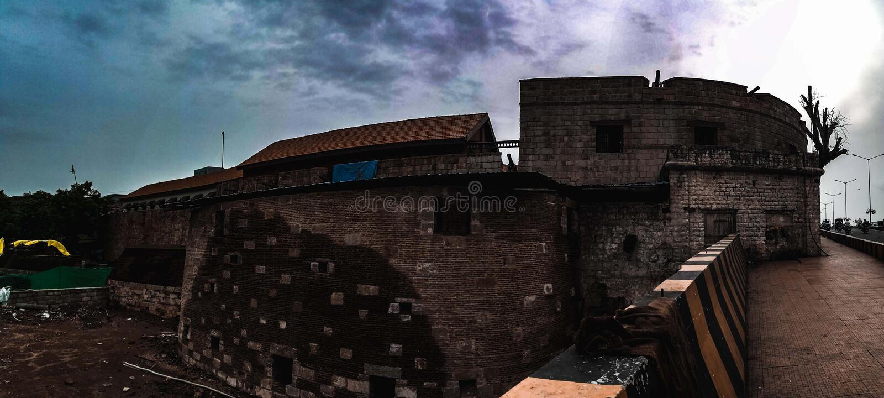 Het kasteel van Surat, Surat, Gujarat, India royalty-vrije stock foto's