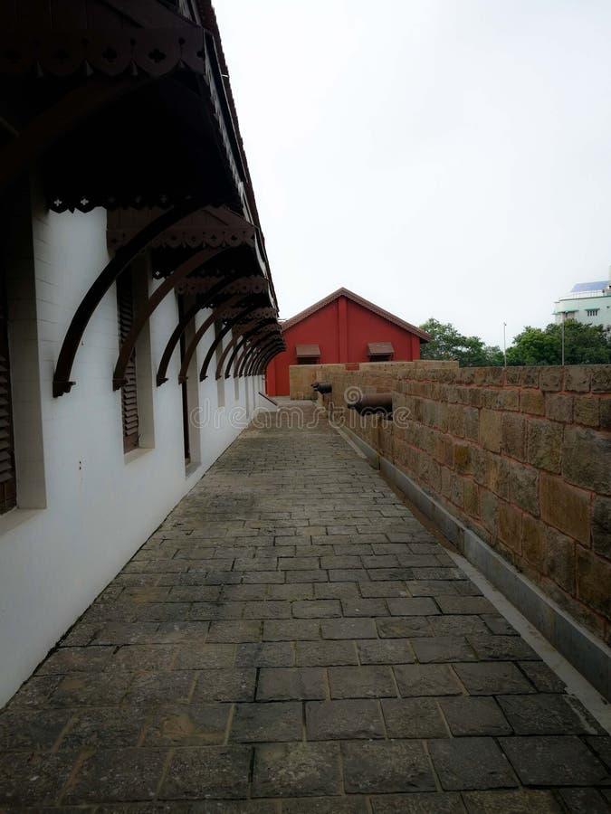 Het kasteel van Surat, Surat, Gujarat, India royalty-vrije stock fotografie