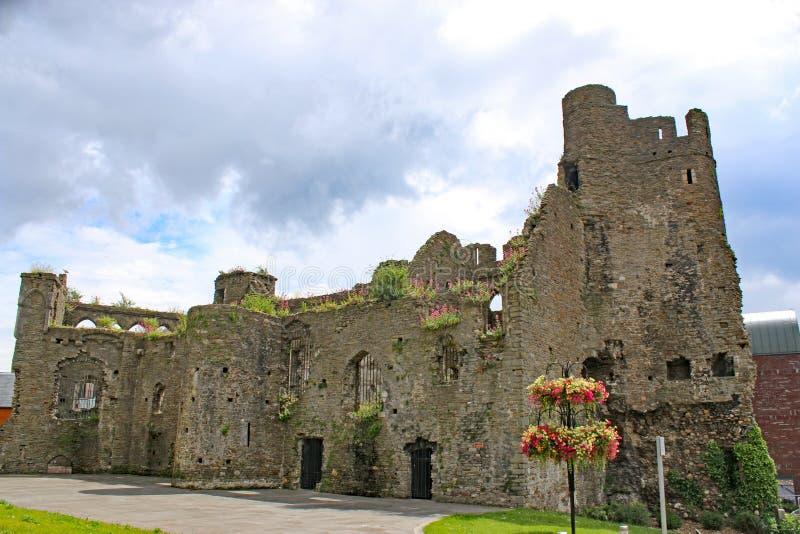 Het Kasteel van Swansea, Wales stock afbeeldingen
